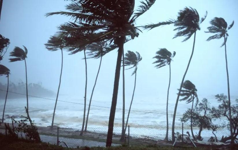 Le cyclone Herold en pleine action