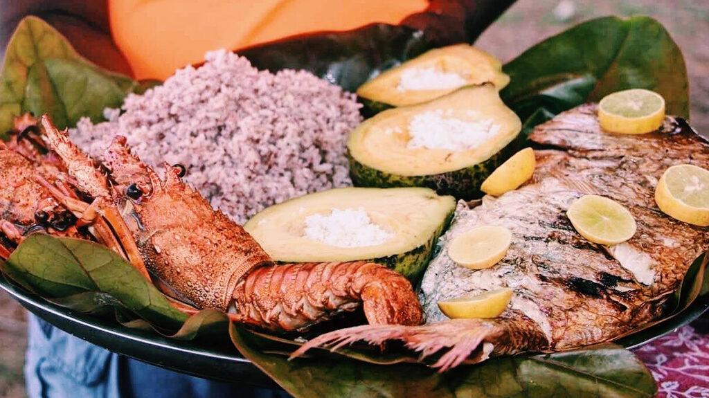 Repas typique malgache